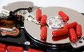 磁盘驱动器解决 免版税库存图片