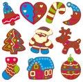 庆祝的圣诞节曲奇饼 免版税库存照片
