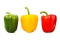 πράσινα κίτρινα και κόκκινα πιπέρια κου ουνιών Στοκ Εικόνες