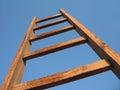 σκαλοπάτι ξύλινο Στοκ Εικόνα