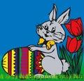 兔宝宝复活节向量 免版税库存图片