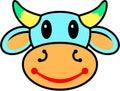 愉快的母牛 免版税库存图片