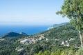 爱奥尼亚海顶视图 库存照片