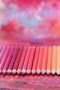 五颜六色的铅笔蜡笔 免版税库存照片