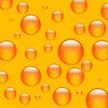 橙色背景的球 免版税库存图片
