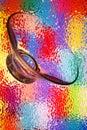 抽象玻璃多色 图库摄影