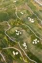 воздушный взгляд гольфа курса Стоковая Фотография RF