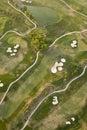 εναέρια όψη γκολφ σειράς μαθημάτων Στοκ Φωτογραφία