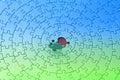 直立蓝绿色曲线锯的前个的部分 库存照片
