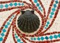 раковина мозаики конструкции Стоковое Изображение