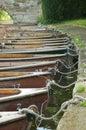 小船荡桨 免版税库存图片