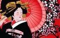 γκέισα ιαπωνικά Στοκ Εικόνες