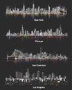 αφηρημένες απεικονίσεις των αστικών οριζόντων πό? εων των ηνωμένων πο? Στοκ φωτογραφία με δικαίωμα ελεύθερης χρήσης