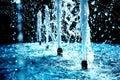 蓝色喷泉 库存图片