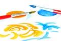 创造性画笔的颜色 免版税库存照片