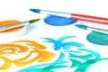 创造性画笔的颜色 免版税库存图片