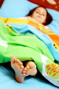 сонные пальцы ноги Стоковые Фотографии RF