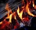 άνθρακες πυρών προσκόπων κ& Στοκ φωτογραφίες με δικαίωμα ελεύθερης χρήσης