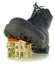 ботинок расквартировывает грубые проступи Стоковые Изображения RF