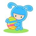 兔宝宝鸡蛋 免版税图库摄影