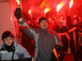反克里姆林宫莫斯科集会 免版税库存图片