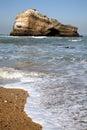 比亚利兹岩石 免版税库存照片