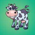 愉快母牛的牛奶店 免版税库存图片