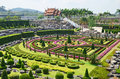 Nong nooch garden in pattaya thailand tropical formal Royalty Free Stock Images