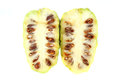Noni fruit on the white background Royalty Free Stock Photography