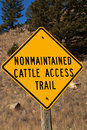 Nonmaintained Cattle Access Trail Royalty Free Stock Photo