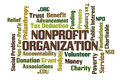 Nonprofit organization word cloud on white background Royalty Free Stock Photo