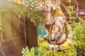 Nonthaburi, Thailand - June, 11, 2017 : Ganesh statue in Koh Kre