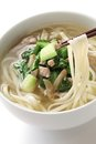 Noodle shredded pickled mustard stem pork Stock Photos