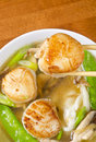 Noodle Soup with Scallops Royalty Free Stock Photo