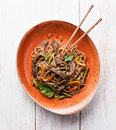 Noodles with beef Royalty Free Stock Photo