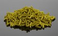 Noodles a pile of green fusilli in reflective back Royalty Free Stock Images