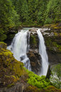 Nooksack falls is one of the most popular waterfalls in the north cascades the plunge ft in two segments they were featured Stock Images