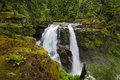 Nooksack falls is one of the most popular waterfalls in the north cascades the plunge ft in two segments they were featured Royalty Free Stock Photography