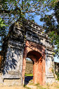 Noon gate hue vietnam located in front of the throne palace and facing the flag tower is the main entrance to the imperial city is Stock Images