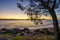 Noosa Beach Sunset Royalty Free Stock Photo