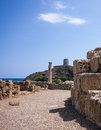 Nora ruins on sardegna roman s of in italy Stock Photos