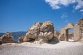 Nora ruins on sardegna roman s of in italy Stock Photography