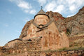 Noravank th century armenian monastery new is a located km from yerevan in a narrow gorge made by the amaghu Stock Photography