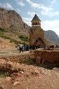 Noravank th century armenian monastery new is a located km from yerevan in a narrow gorge made by the amaghu Stock Photos