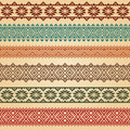 Nordic border decoration elements patterns in different colors most popular ethnic in one mega pack set collections vector Royalty Free Stock Photography