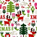 Nordic Christmas Seamless Pattern Background Royalty Free Stock Photo