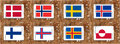 Nordic flags Royalty Free Stock Photo
