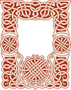 Nordic frame pattern Stock Image