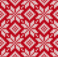 Nordic knitted seamless pattern eps Royalty Free Stock Photos