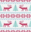 Nordic knitted seamless pattern. Vector Christmas background. Colorful, decoration.